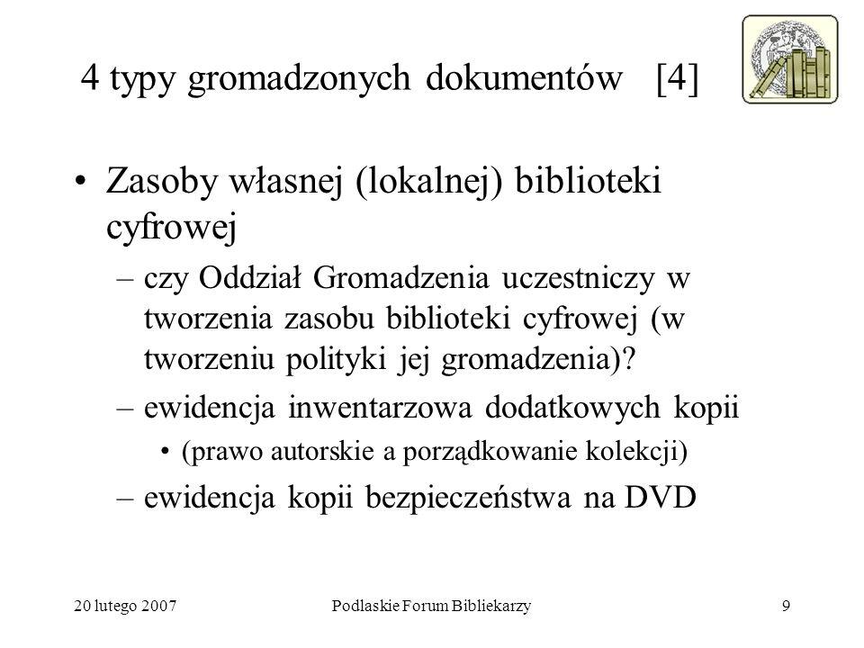 4 typy gromadzonych dokumentów [4]